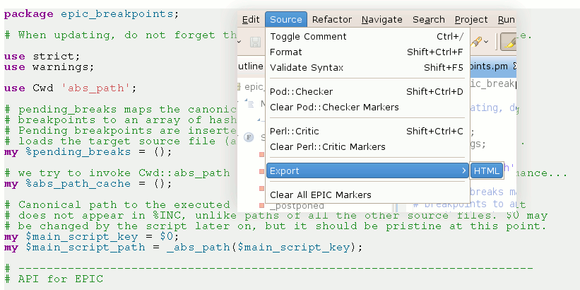 Perl IDE and Programming Environment